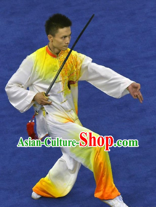 Top Asian Chinese Martial Arts Southern Fist Qi Gong Yoga Long Sleeved Uniform for Men