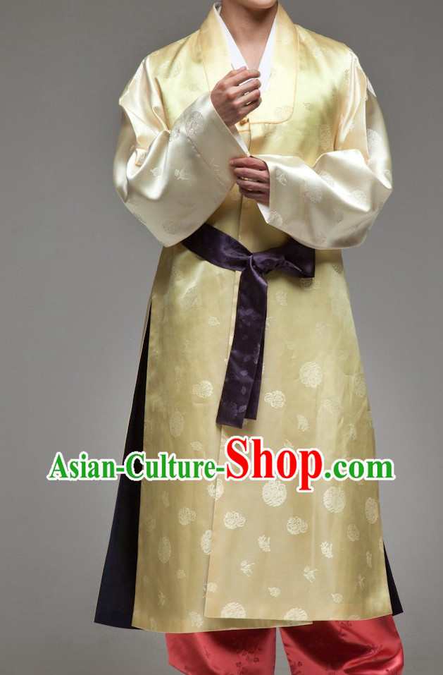 Korean Bridegroom Wedding Hanbok Clothes Complete Set for Men