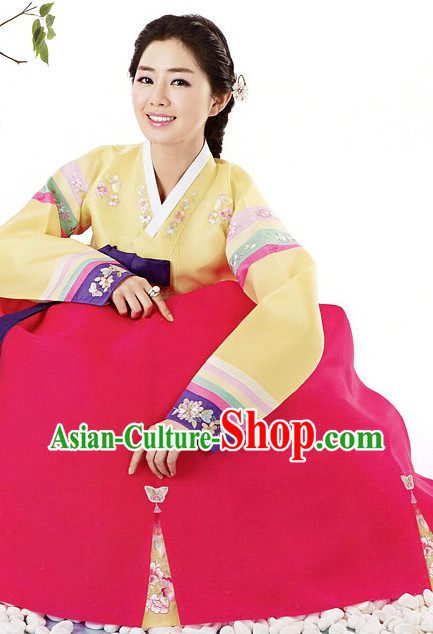 Korean National Hanbok Costumes Complete Set for Women