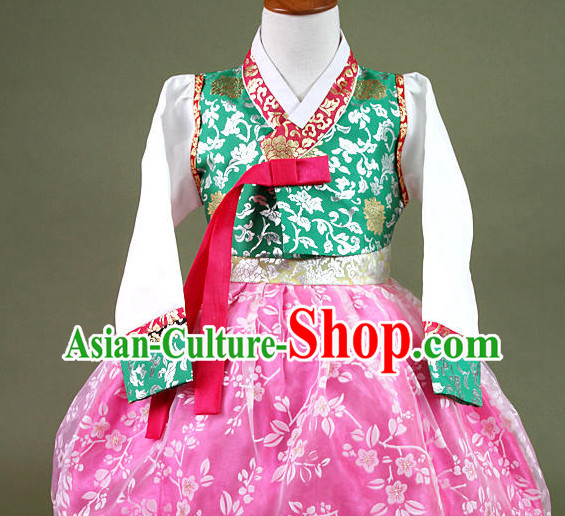 Top Korean Hanbok Birthday Ceremonial Dress Complete Set for Kids