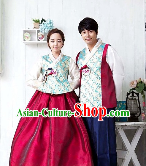 Top Korean Official Hanbok Wedding Dresses for Men and Women