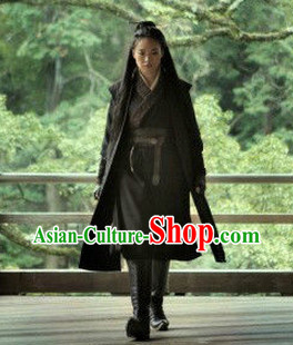 China Ancient Female Killer Film Costumes Complete Set for Women