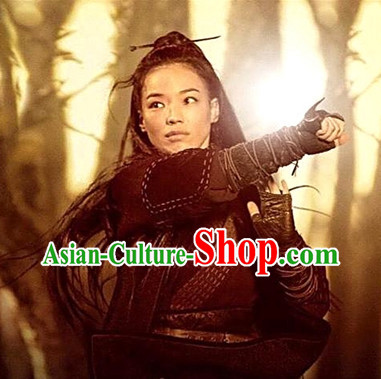China Ancient Female Killer Swordswomen Film Costumes Complete Set for Women