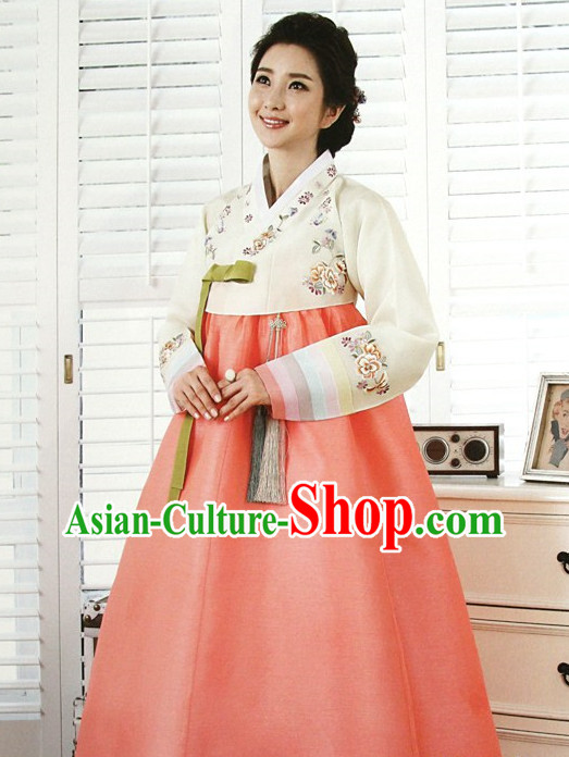 Top Korean Ladies Official Reception Hanbok Dresses Complete Set