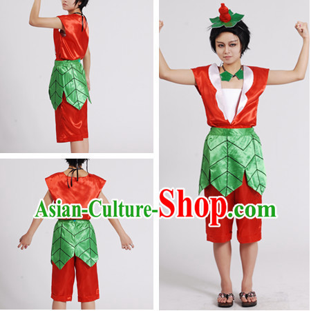 Chinese Cartoon Character Gourd Dolls Costume for Men or Kids