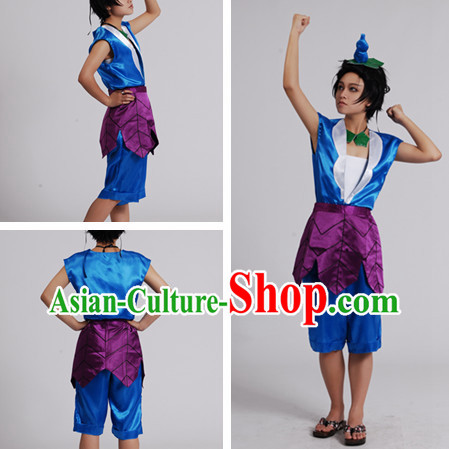 Chinese Cartoon Character Gourd Doll Costume for Men or Kids