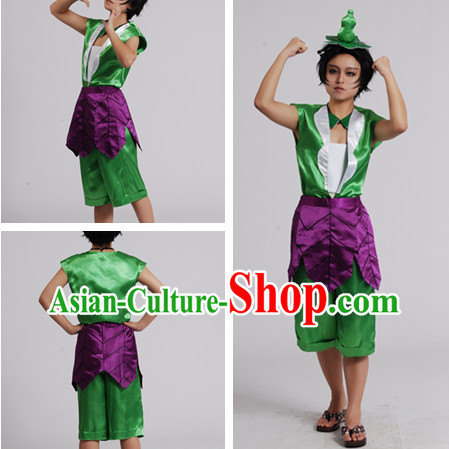 Chinese Cartoon Character Gourd Doll Outfits for Men or Kids