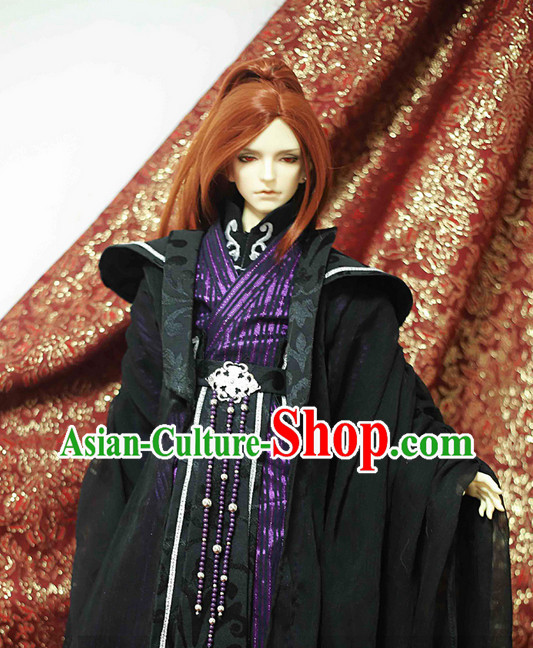 Chinese Costumes Traditional Clothing China Shop Hanfu Black Master Outfit for Men