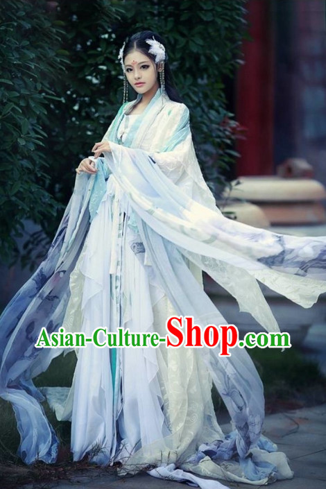 Chinese Costumes Traditional Clothing China Shop White Fairy Hanfu Outfit for Women