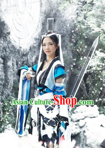 Chinese Costumes Traditional Clothing China Shop Female Fighter Cosplay Halloween Costumes