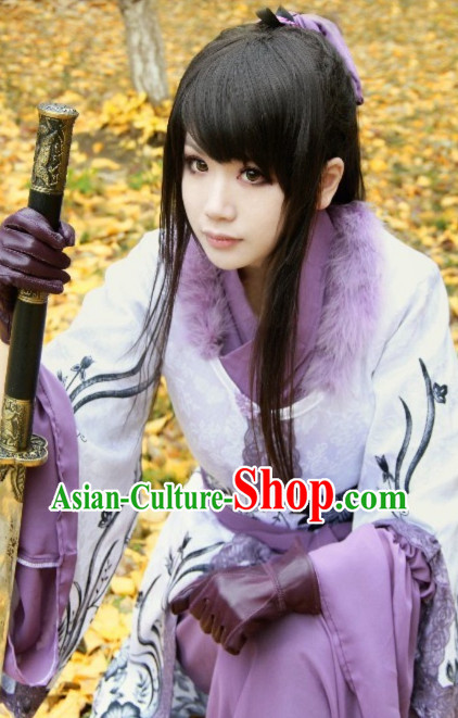 Chinese Costumes Traditional Clothing China Shop Purple Fighter Classical Dance Costumes
