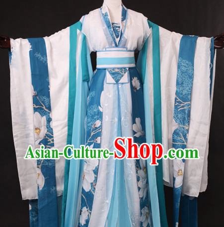 Chinese Female Teacher Halloween Costumes Hanfu Outfits