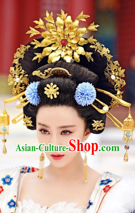 Tang Dynasty Style Chinese Empress Hair Accessories Hair Extension