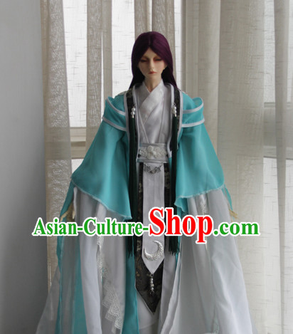 Chinese Scholar Hanfu Clothing Asia fashion China Civilization Complete Set for Men