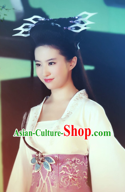 Tang Dynasty Style Chinese Female Warrior Hair Accessories Hair Jewelry