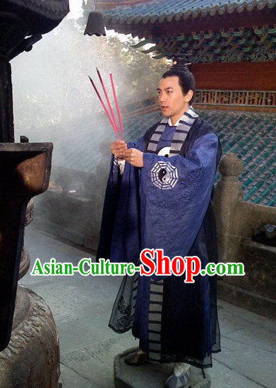 Chinese Ancient Taoist Costumes Complete Set for Men