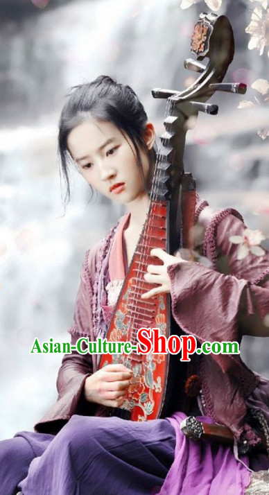 Chinese Ancient Singer Costumes Complete Set for Women