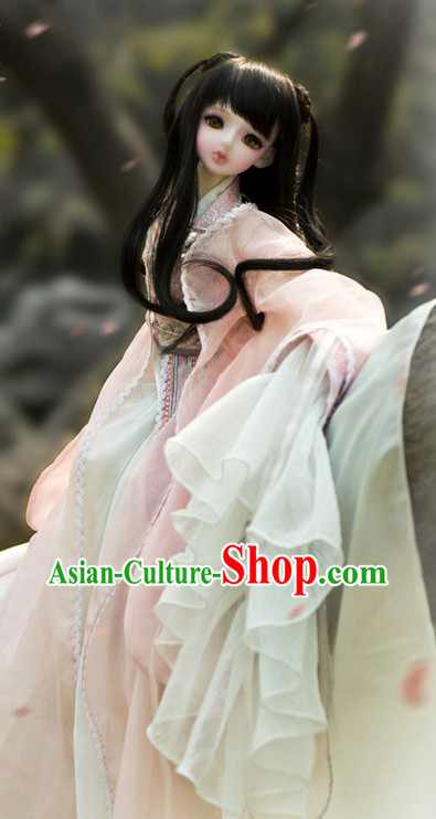 Chinese Ancient Pink Hanfu Costumes for Women