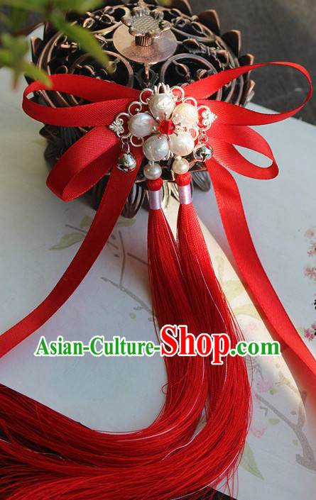 Chinese Traditional Red Hair Bands