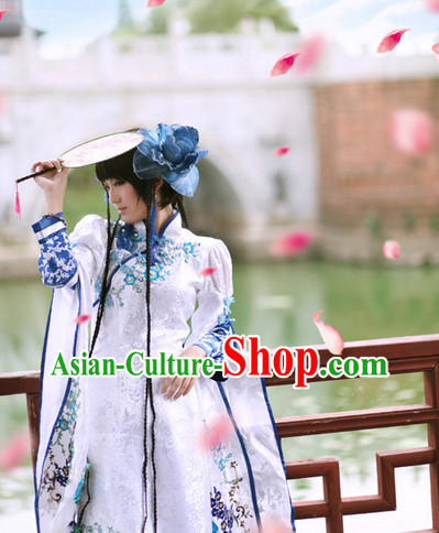 Asia Fashion Mandarin Collar Poet Cosplay Costumes Complete Set for Women