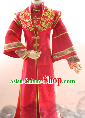 Chinese Costume Asian Fashion China Civilization Medieval Costumes Red Bridegroom Dress
