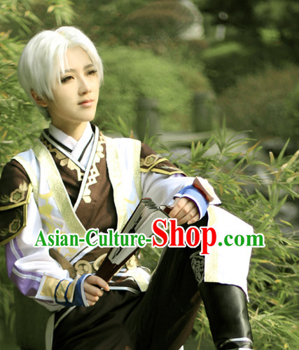 Asia Fashion Kung Fu Master Cosplay Costumes Complete Set for Men