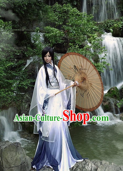Asian Fashion Chinese Hanfu Clothing Complete Set