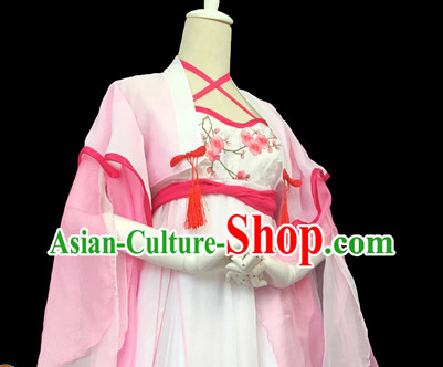 Chinese Ancient Legend Plum Blossom Fairy Costumes for Women