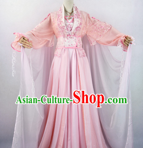 Chinese Ancient Pink Empress Fairy Costume Complete Set for Women