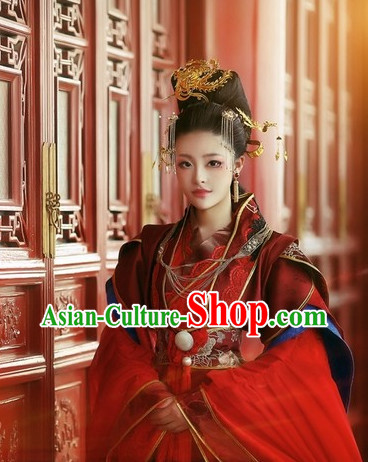 Asian Fashion Chinese Princess Halloween Costumes Complete Set for Women