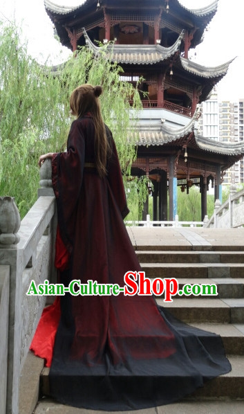 Asian Fashion Chinese Emperor Kimono Costumes Complete Set for Men