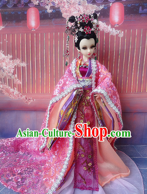 Asia Fashion China Civilization Chinese Princess Robe and Hair Accessories Complete Set