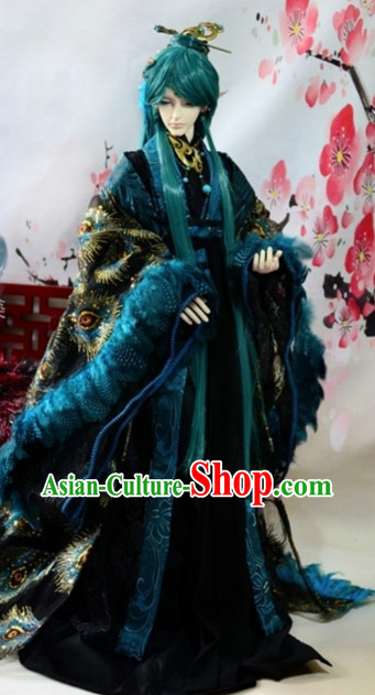 Asia Fashion China Civilization Chinese Emperor Costumes and Hair Jewelry Complete Set