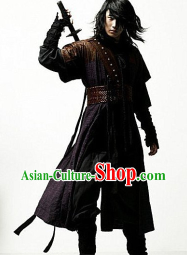 Asian Fashion Black Swordman Costume Complete Set for Men
