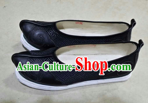 Handmade Asian Chinese Traditional Black Cloud Toe Hanfu Shoes online