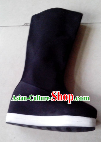 Handmade Asian China Stage Performance Thick Sole Traditional Black Boots online