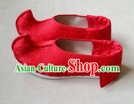 Lucky Red Chinese Traditional Ladies Wedding Shoes