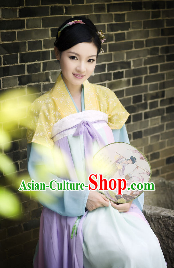 Asian Fashion Oriental Dresses Chinese Hanfu Plus Size Classy Outfit Complete Set