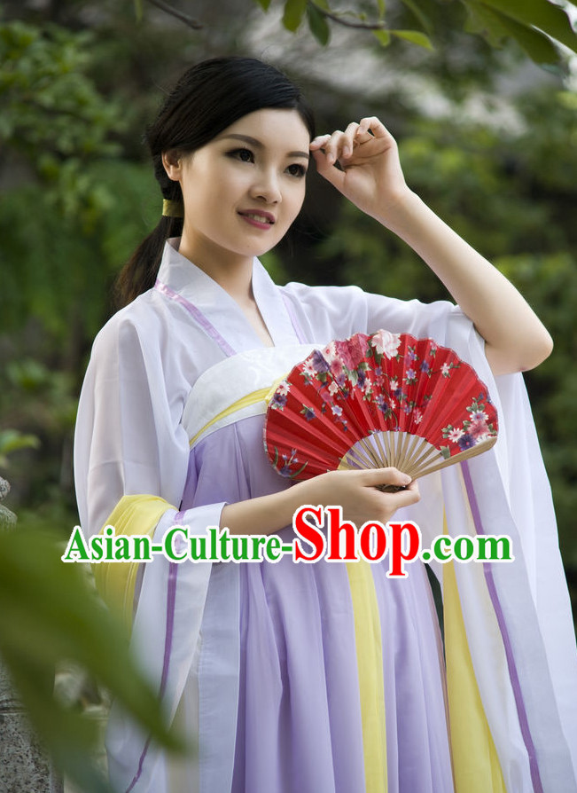 Asian Fashion Oriental Dresses Chinese Hanfu Plus Size Classy Suit Complete Set