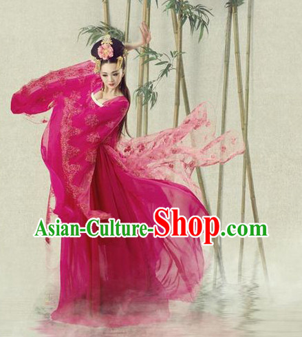 Asian Fashion Chinese Empress Costumes and Hair Jewelry Costumes Complete Set