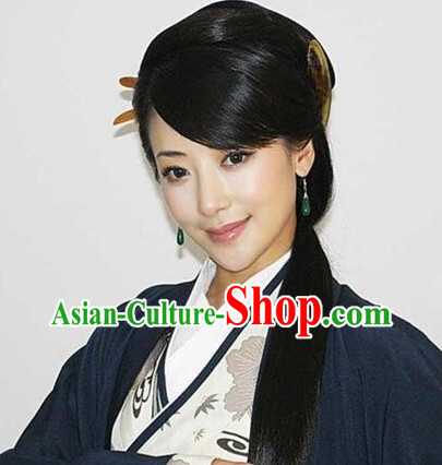 Asian Fashion Chinese Classic Ladies Black Long Wig