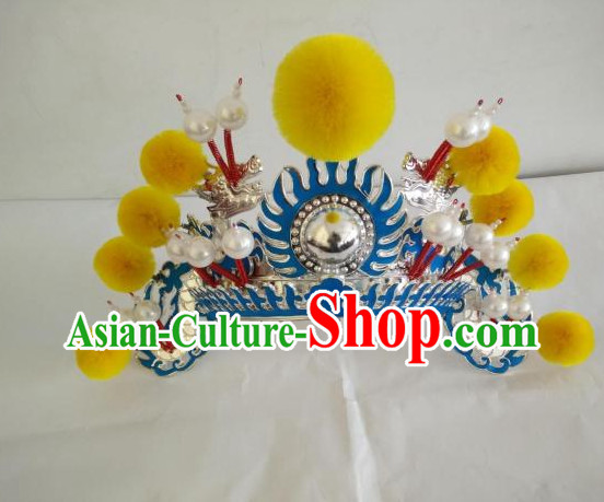 Asian Fashion Oriental Beijing Opera Mu Guiying Hua Mulan Hat