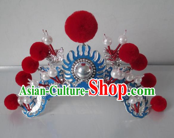 Asian Fashion Oriental Beijing Opera Hua Mulan Hat Headwear