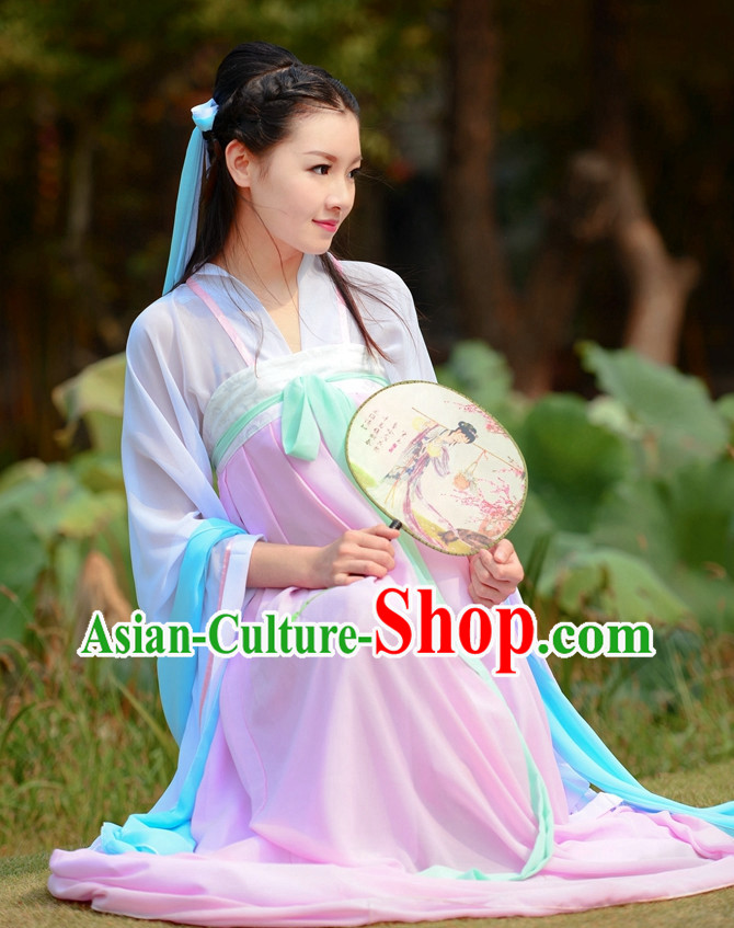 Asian Fashion Oriental Dresses Chinese Hanfu Plus Size Classy Skirt Clothing Complete Set