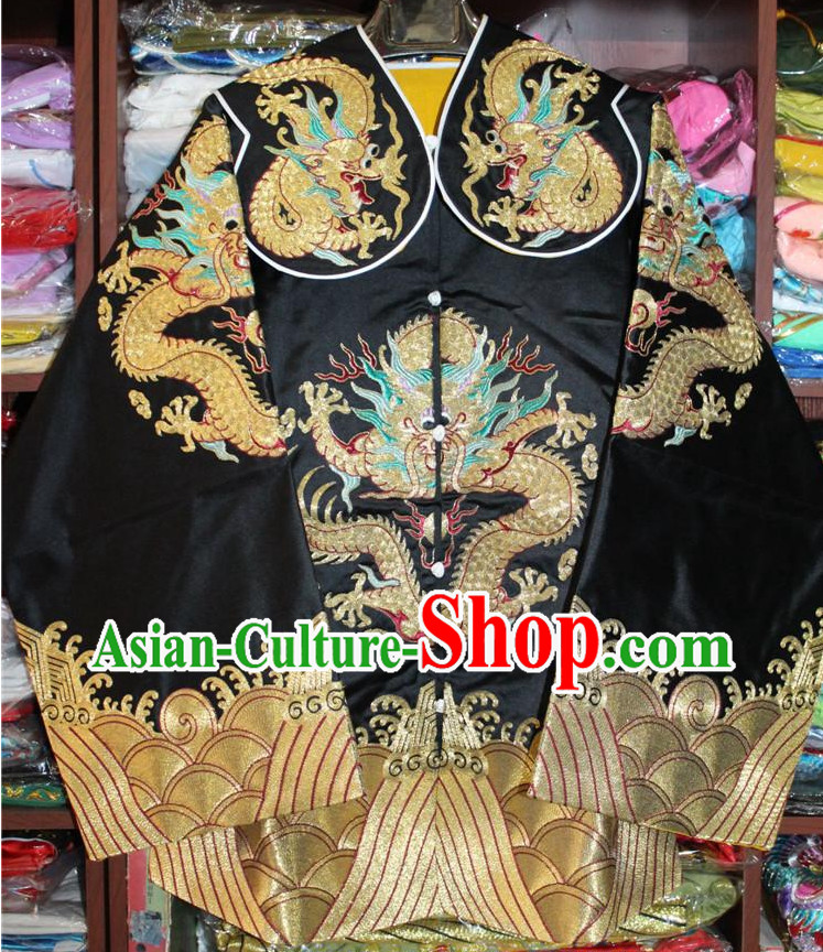 Oriental Clothing Chinese Peking Opera Dragon Embroidery Costumes Robes