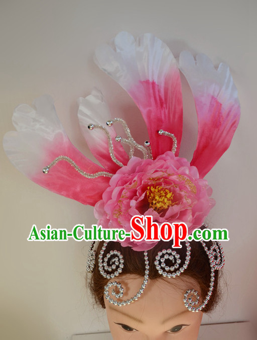 Chinese Classical Dance Big Flower Headwear