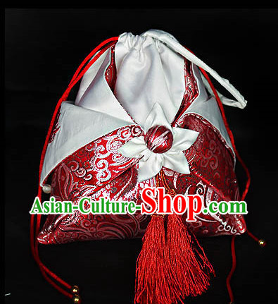 Asian Fashion Chinese Classic Hanfu Accessories Traditional Handmade Designer Hand Bags