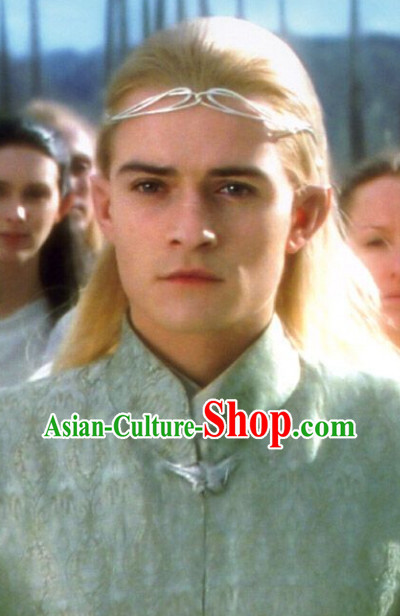 The Lord of the Rings Warrior Long Wig and Hair Accessories