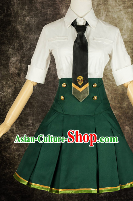 Asian Chinese Fashion Girls Students Halloween Costumes Cosplay Costumes Plus Size Cosplay Costumes