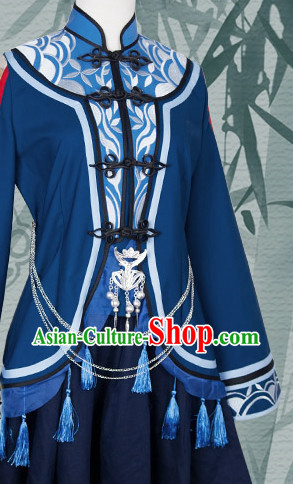 Asian Chinese Fashion Mandarin Collar Lady Halloween Costumes Cosplay Costumes Plus Size